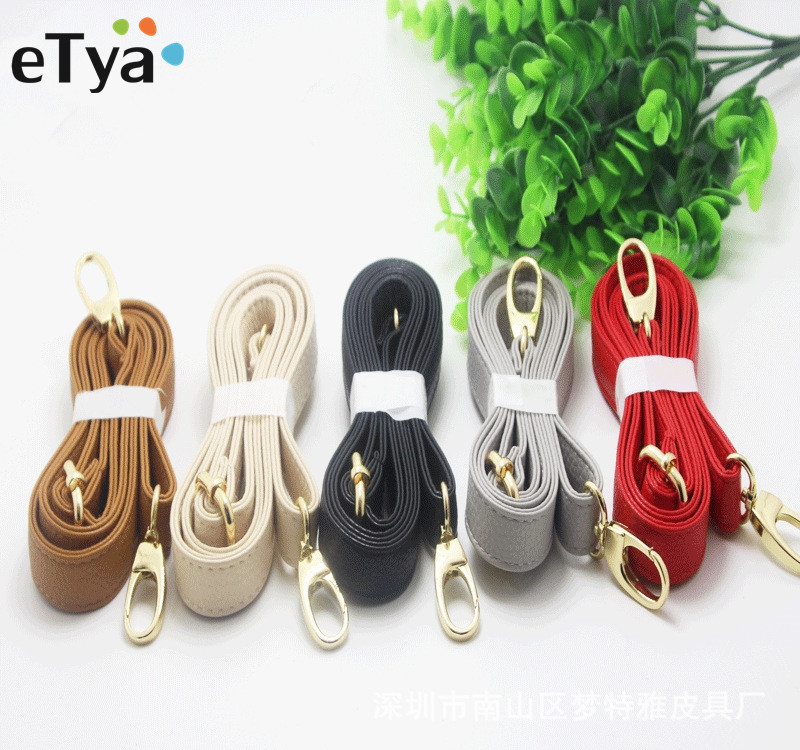 ETya  Women Handbags Belts Strap Bag New PU Leather Crossbody Shoulder Bag Handle DIY Purse Bag Accessories