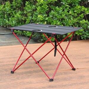 Image 3 - נייד קל משקל בחוץ שולחן עבור קמפינג שולחן אלומיניום סגסוגת פיקניק מנגל מתקפל שולחן חיצוני פרק חוף נסיעות שולחן