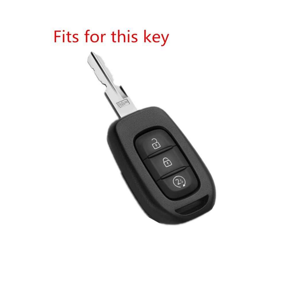 AUTEWODE 3 Nút Silicon Remote Key Fob Ốp Lưng Renault Lau Bụi Sandero Logan Clio Captur Laguna Scen 2015 2016 2017