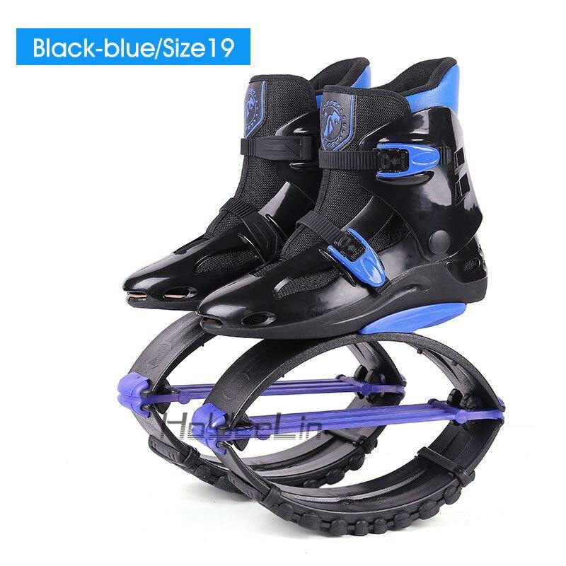 Обувь для фитнеса, кенгуру, прыжки, унисекс, уличная спортивная обувь, обувь для прыжков, сапоги для прыжков, стиль, размер 19/20 - Цвет: Black-blue-Size19