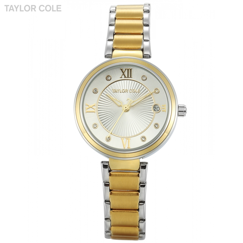 Luxury Brand Taylor Cole Relogio Feminino Clock Stainless Steel Watches Ladies Fashion Casual Watch Quartz Wristwatch / TC066 feitong luxury brand watches for women ladies watch full stainless steel gold mesh band wristwatch wristwatch relogio feminino