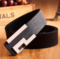 2015 Fashion Hot brand Belt smooth buckle PU Leather Belts For Men and women Male luxury letter design waist strap Free shipping