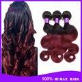 6a barato peruano cabelo virgem onda do corpo ombre cabelo Ms lula peruano onda do corpo 4 pacotes barato pacotes de 100 g no galpão
