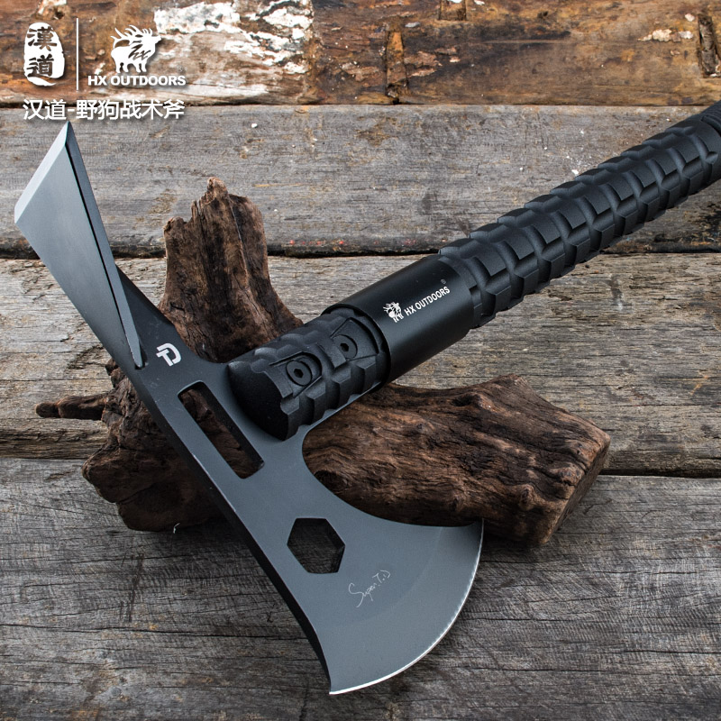 HX OUTDOORS Axe Multifunctional 58Hrc With Nylon Sheath Hunting Rescue Camping knives Edc Tool Survival Axes Outdoor Tools outdoor multifunction camping tools axe aluminum folding tomahawk axe fire fighting rescue survival hatchet