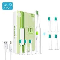 LANSUNG Toothbrush Electric IPX7 Waterproof Ultrasonic Sonic Electric Toothbrushes Sonicare Escova De Dente Eletrica Portable