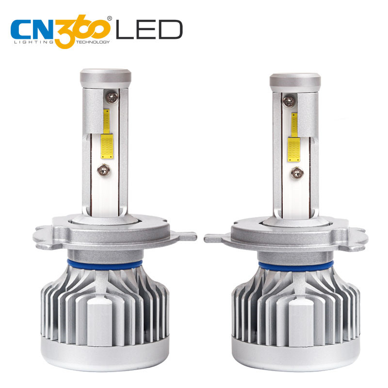 CN360 2 PCS H4 HB2 9003 Super Bright Led Headlight Bulb 60W 10000Lumens High Low Beam 6000K White  12V  LED Car Bulb 1 pair h4 9003 hb2 led bulb for cars auto led headlight kit h4 high low beam head light 30w 4200lm 12 smd super bright