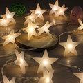 40 Partido LED Luzes de fadas Bateria Operado Estrela de Cinco pontas-luz LED de Natal luzes da corda para o Interior Ao Ar Livre Xmas o uso do partido