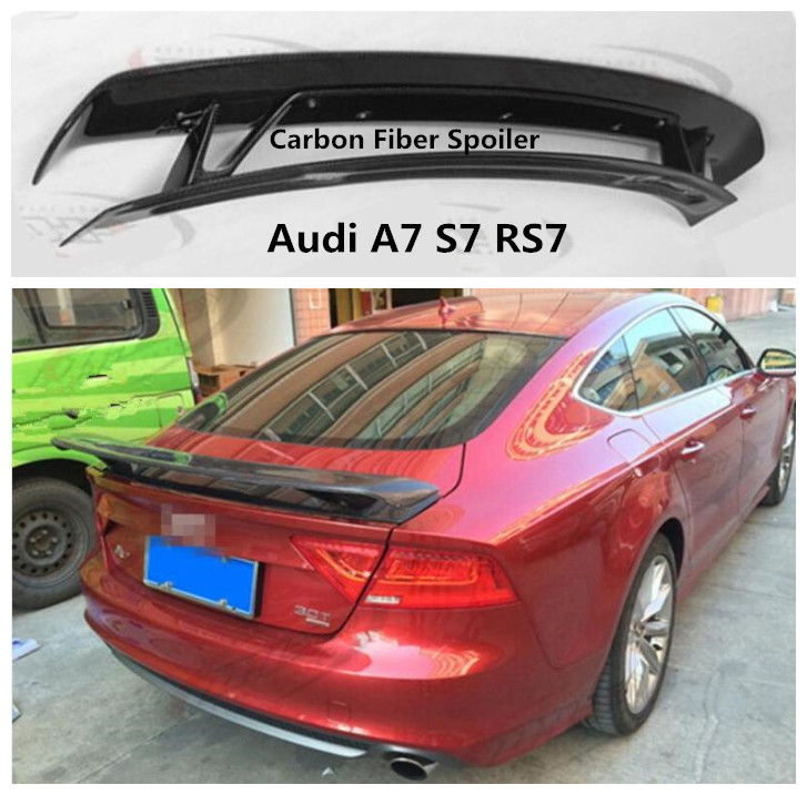 Carbon Fiber Spoiler For Audi A7 S7 RS7 2010 2019 High Quality TTS Style Spoilers Auto Modification Accessories By EMS