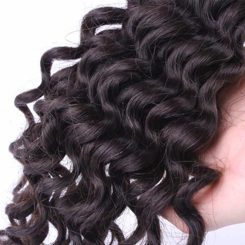Продукты для волос Ali queen глубокая волна необработанные девственные бразильские пучки натурального цвета 12-30 дюймов 100% натуральные волосы «второй объем» плетение