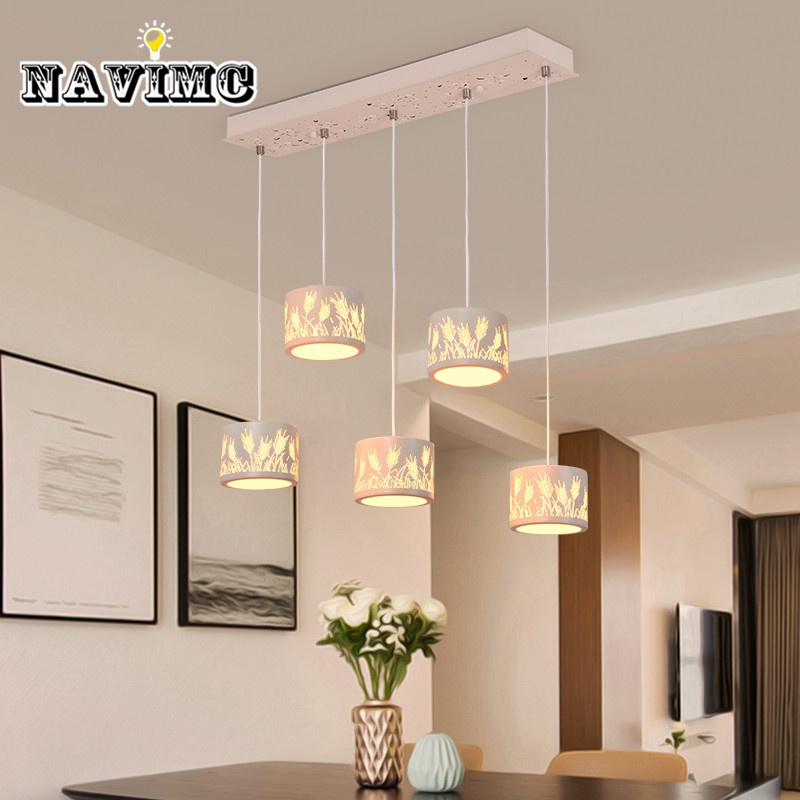 Modern Minimalist Dining Room Chandelier Personality Restaurant Cafe Lamp Nordic Iron Restaurant Living Room Pendant Lamp nordic cozy restaurant chandelier modern minimalist dining room creative art living room study kitchen counter lamp postage free