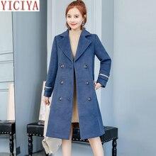 YICIYA women wool woolen jacket coat winter autumn plus size large big 4xl blend long blazer suits elegant clothes slim coats
