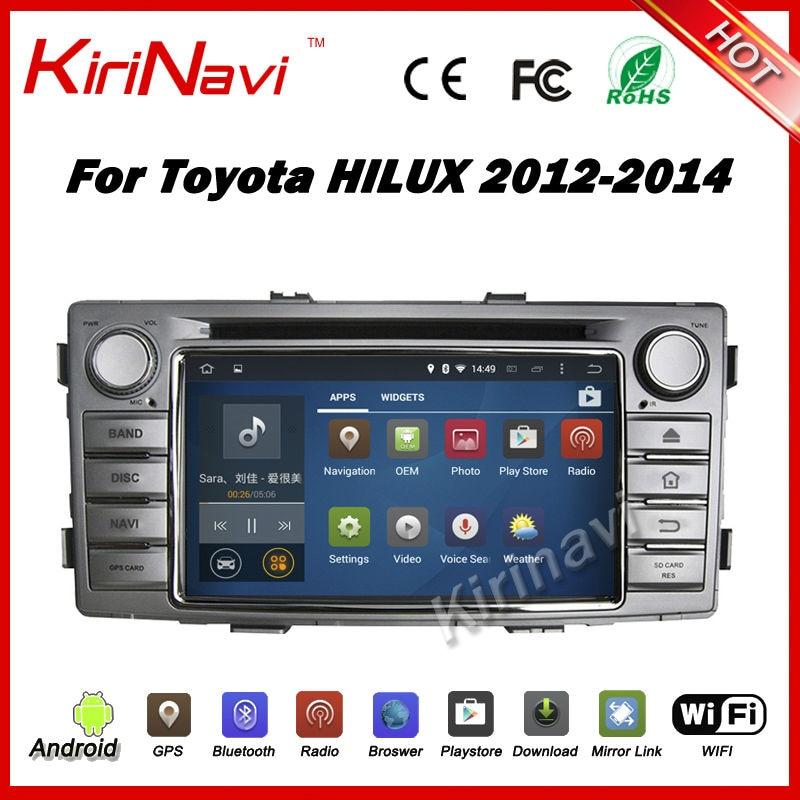 Kirinavi android 7 1 car font b radio b font stereo gps for toyota hilux 2012