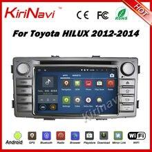 Kirinavi Android 7.1 Car radio estéreo GPS para Toyota hilux 2012-2014 doble DIN pantalla táctil de coches reproductor de DVD wifi 3G playstore