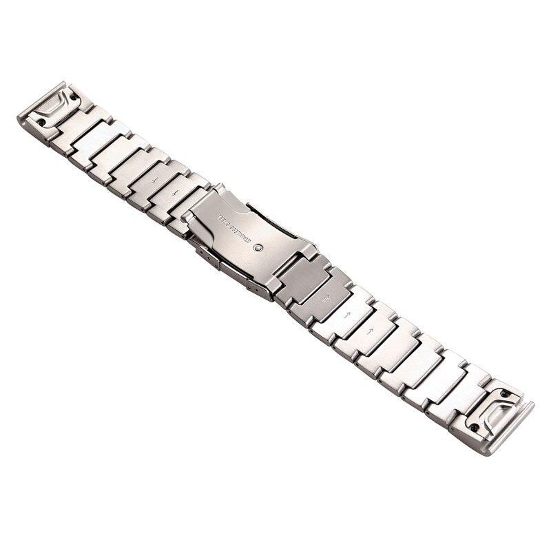 de metal ajuste rápido aço inoxidável pulseira