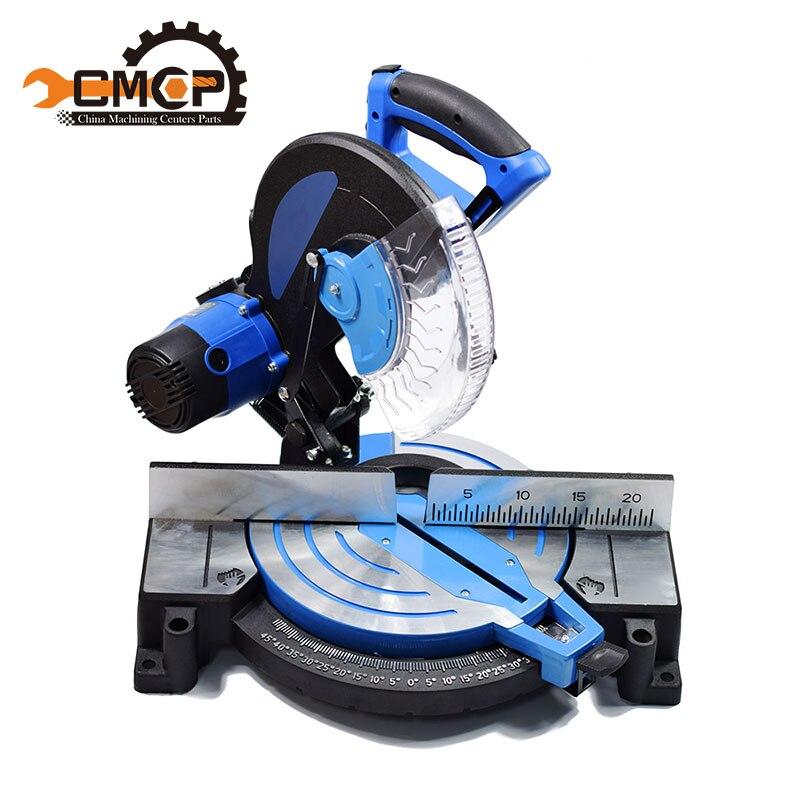 10'' 2600W Aluminum Cutting Machine 45 Degrees High Precision DIY Compound Mitre Saw for Metal/Wood Multi Purpose Sliding Mitre