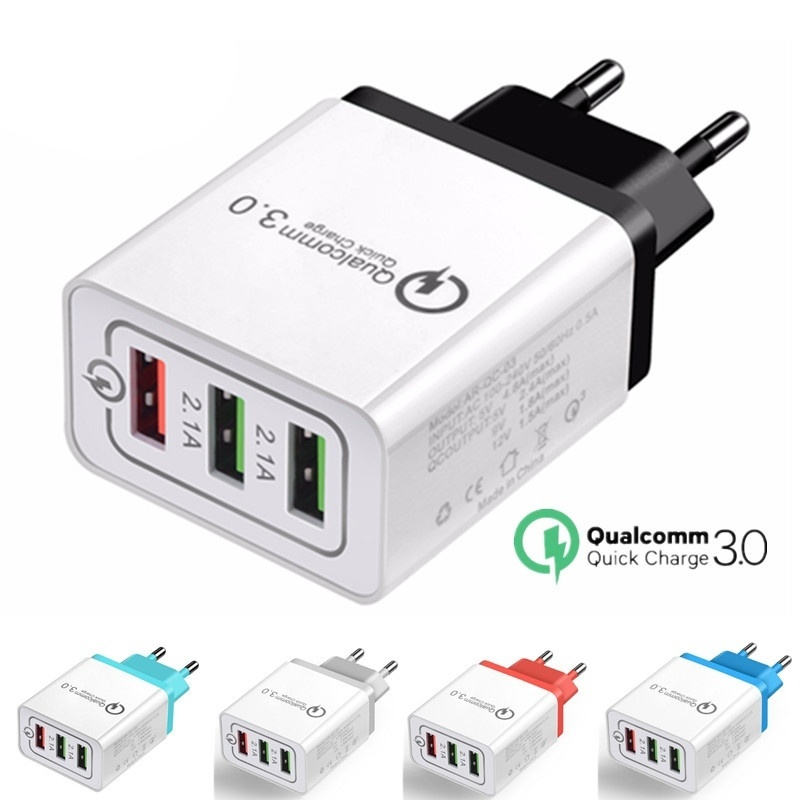 Quick Charge 3.0 30 W QC3.0 QC Turbo Charging Fast Charger USB Multi Charger For Samsung S8 S9 Xiao mi mi 9 Huawei Mobile Phone