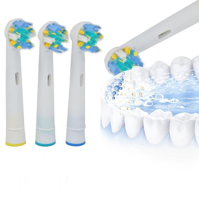 4Pcs Replacement Electric Toothbrush Heads For Oral Hygiene B Cross Floss Action Precision Pulsonic Soft Tooth Brush Heads 8pcs replacement toothbrush heads for azdent ye02 az 2 pro electric toothbrush oral hygiene b cross floss teeth tooth brushes