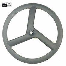 BIKEDOC 700c Carbon Wheels font b Bicycle b font Carbon 3 Spoke Wheel Chinese Carbon Tri