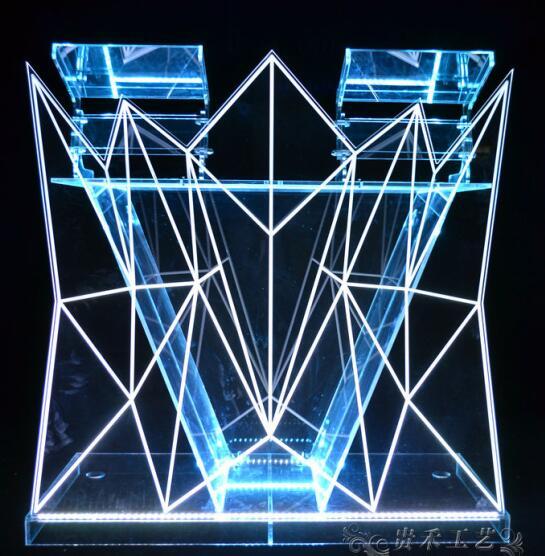 2018 haute qualité nuit Bar acrylique LED RGB compteur de lumière conceptions, LED à changement de couleur Table de lumière personnalisé DJ stand à vendre