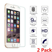 [2 Pack] Tempered Protective Glass For iphone 4S 5 SE XR 6 6s 7 8 Plus X Screen Protector 2.5D