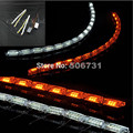 2017 new 52cm White Yellow Crystal LED DRL strips Flexible Car LED DRL stripes LED Daytime Running Light with Turn Signal Light