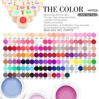 2017 Hot Sale Canni Pure Color Gel Soak Off LED UV Painting Gel Nail Art Design