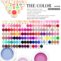 CANNI Painting Gel Lacquer Nails Salon 141 Colors 5ml Pure Color Soak Off LED UV Color Varnish Nail Gel