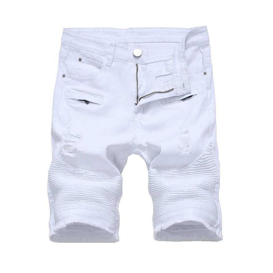 Men Cargo Short Denim Jean Shorts Pants Casual Jeans Trousers Casual Ripped Hole