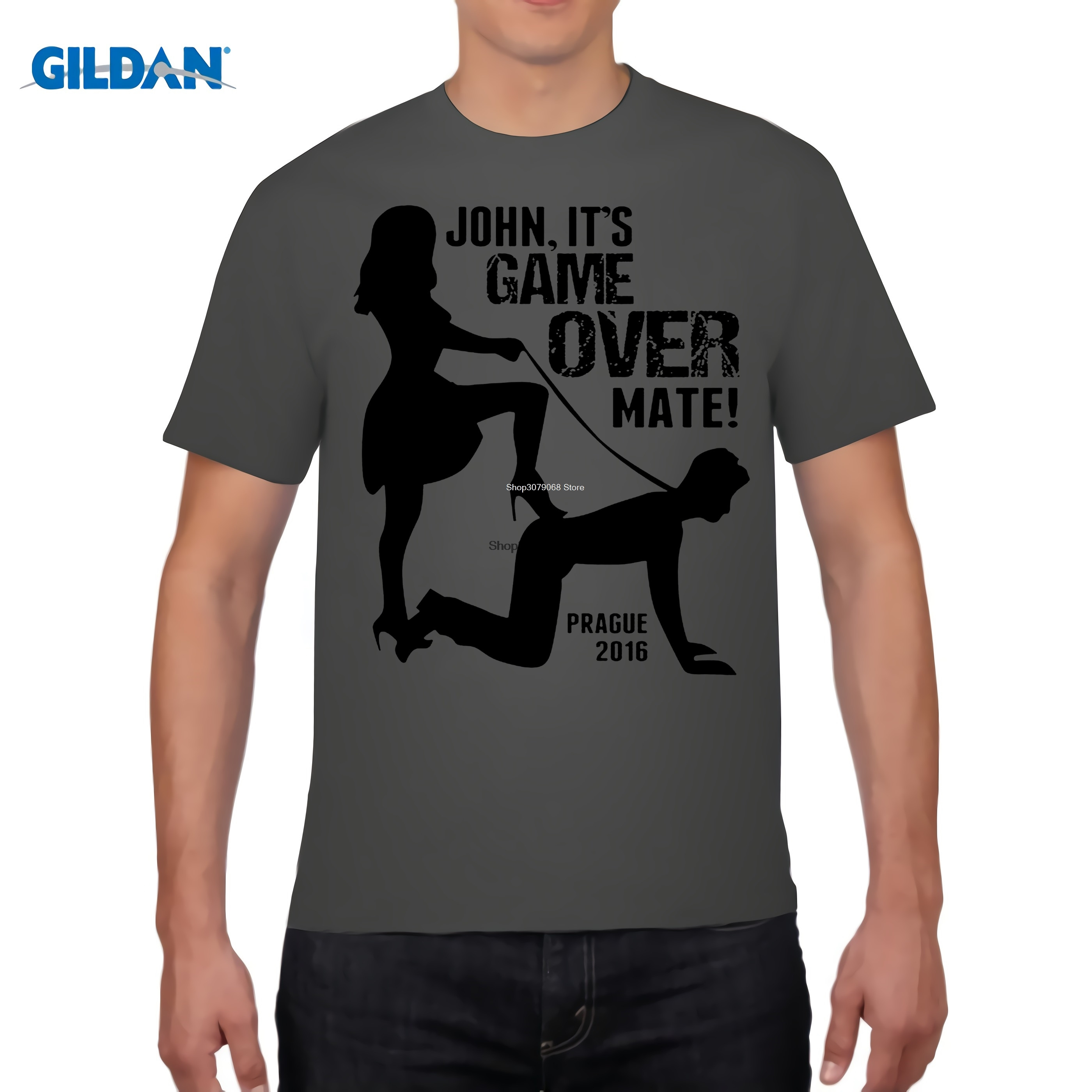 GILDAN designer t shirt 2017 New T-Shirt Woman Clothing Its Game Over Personalised Custom Stag Do Ladies Women Tee shirt