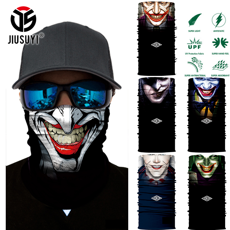 JIUSUYI Men Skull Tube Headband Bandana Ring Head Scarf