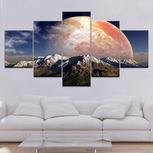 Framework Canvas Poster Wall Art Mountain Landscape ChildrenS Room Painting Planet HD Printed Pictures Modular Decoration
