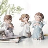 Europe Style Fée Figurines creative résine chant danse ange Décoration articles cadeaux de mariage artisanat Poupée Ornements