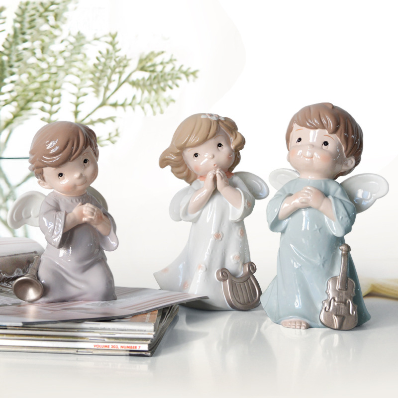 Europe Style Fairy Figurines creative resin singing dancing angel Decoration articles wedding gifts crafts Doll Ornaments ...