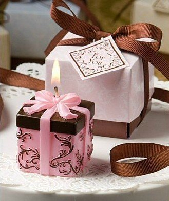 free shipping-factory price,100pcs/lot,delicate packet shaped candle wedding fovor/best wishes for wedding