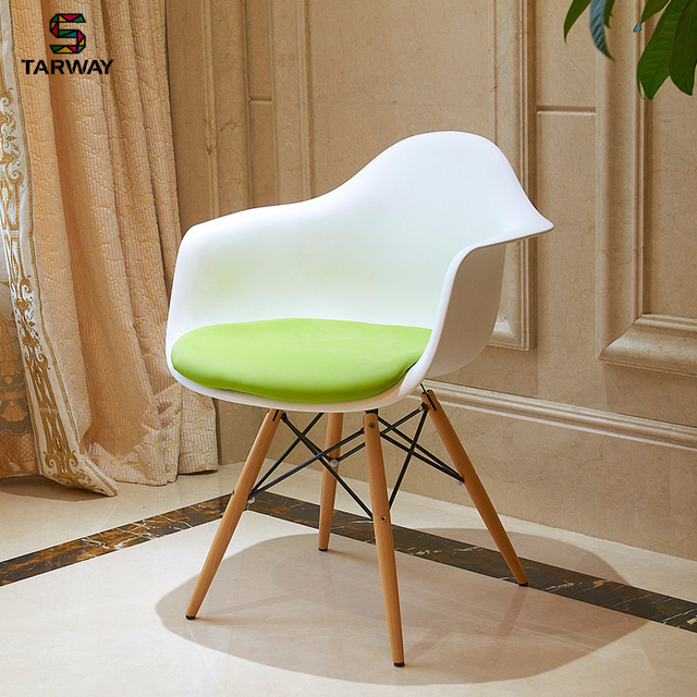 Starwise Creative Wood Eames Chairs With Upholstered Dining Chairs Casual  Fashion IKEA Parlor Chairs Computer Chair