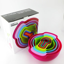 10 Stück Multicolor Kreative Messbecher und Löffel, SALA Schüssel set kitchen tools