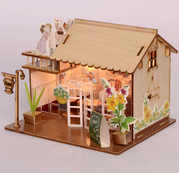 Baby Room Home Decoration Doll House Model Furniture DIY 3D Puzzle Kit  Wooden Paper Toy Cute