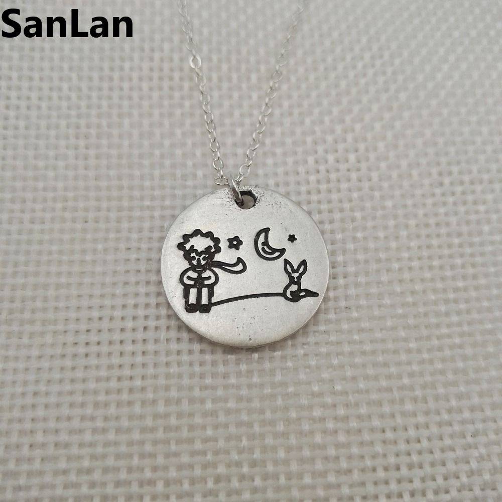 2pcs/lot Little Prince and fox pendant little prince necklac