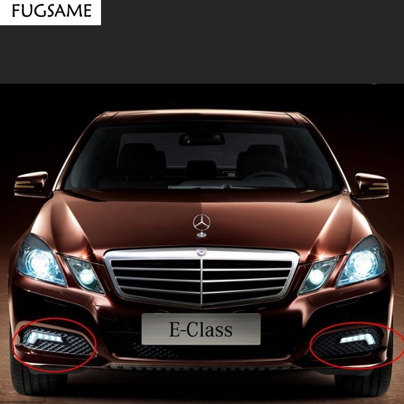 FUGSAME 12W vysoce výkonný L tvar denního světla 2 x 6 LED denní světlo do auta Hmlové světlo pro Mercedes Ben z AUDI