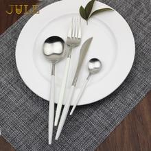 Royal Dinnerware Set of 24 pieces 18/10 Stainless Steel Western Food Tableware Sets Dining Knife Fork Dinner Cutlery Sets