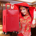 2016 New Fashion Style Hot!! Red  Travel bag Trolley case Boarding Box Rolling Luggage Trunk Suitable for Women suitcase