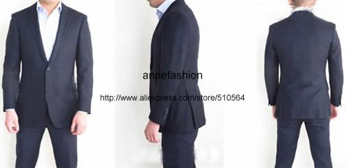Men's Tailor Made Black Suit Sets Wedding Dress Suit Classic Groom Wear Tuxedo Jacket With Pant(Jacket+bowtie+Pant) 31