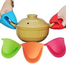 TTLIFE cake bakeware heat resistant silicone oven glove short finger hand clip oven mitt convenient pot holder