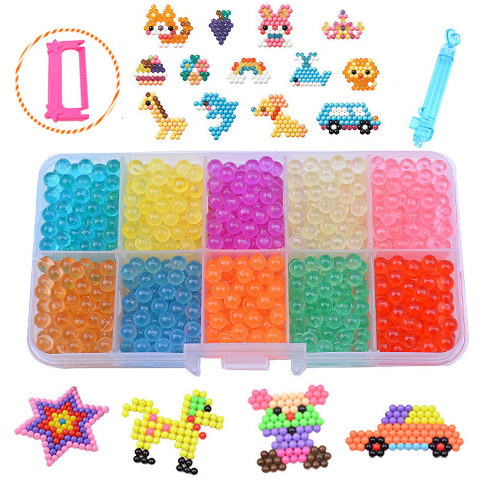 2018 HOT Water beadbond Aquabeads children's educational toys DIY Magic Beads puzzle Packed magical water beados