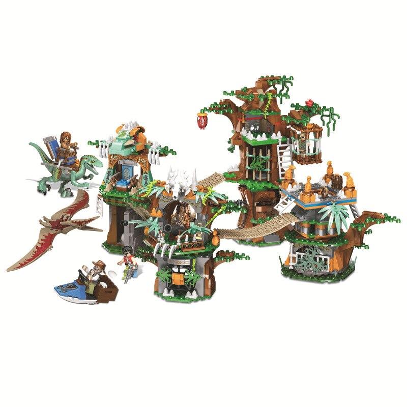 1000 Pcs Dinosaur World Kinderen Educatief Bouwstenen Speelgoed Compatibel Legoings Jurassic World City Dinosaurus Stam Geschenken
