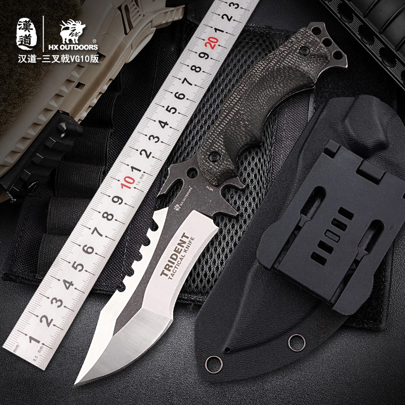 HX OUTDOORS VG10 Tactical Knife Hunting Camping Fixed Blade Knives Foam Cement Composites Handle Outdoor Survival Knives Tools hx outdoors d2 blade knife camping saber tactical fixed knife zero tolerance hunting survival hand tools quality straight knife