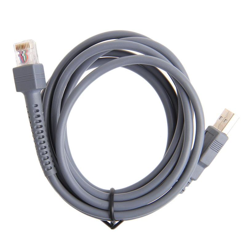 2 M Symbol Barcode Scanner Usb Kabel Ls1203 Ls2208 Ls4208 Ls3008 Cba-u01-s07zar # L059 # Neue Heiße Heller Glanz