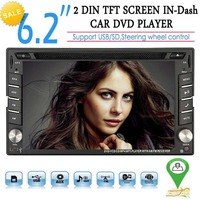 Double 2 Din Car Stereo DVD Player GPS Navigation Radio Bluetooth 2 Din Capacitive Touch Screen support USD SD mp5 SWC Car Logo