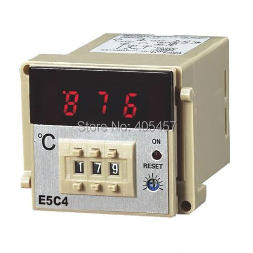 OMRON  E5C4 digital display temperature controller,controlling temperature unit 0-399/0-999 degrees celsius,K type thermostat терморегулятор omron 0001 e5en yr40k 0 399 18