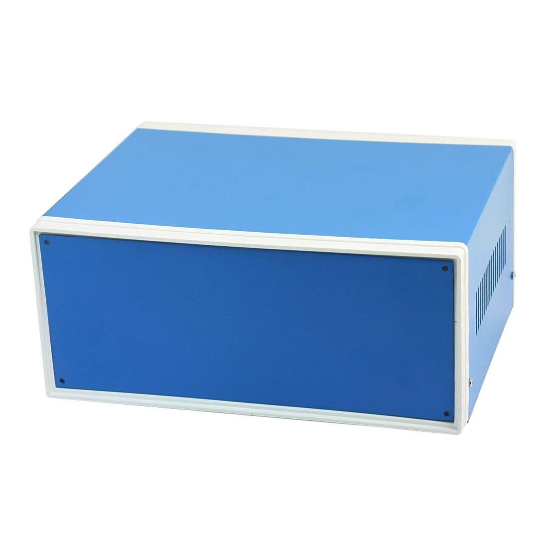 цена на 9.8 x 7.5 x 4.3 Blue Metal Enclosure Project Case DIY Junction Box